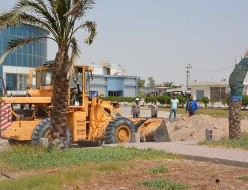 الكلية التقنية الهندسية البصرة تباشر بإنشاء شارع جديد لمدخل الكلية
