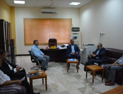 The Engineering Company for Integrated Projects discusses the prospects of joint cooperation with the Technical Engineering College in Basra.